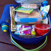 A very full zip up lunchbox